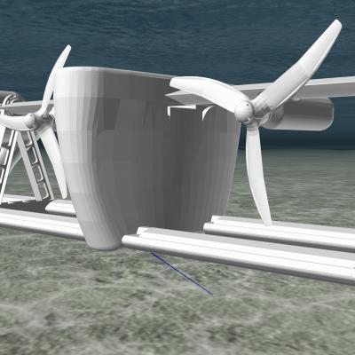 Image of Sustainable Marine Energies PLAT-O#2 tidal energy Platform