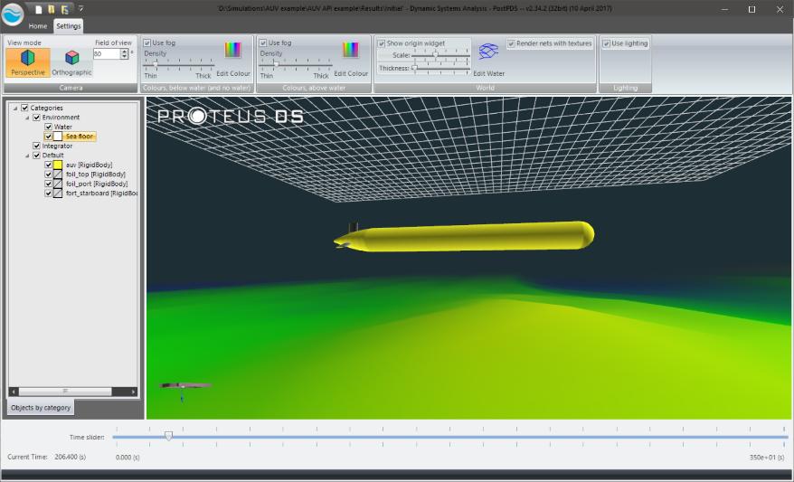 ProteusDS simulation of an AUV