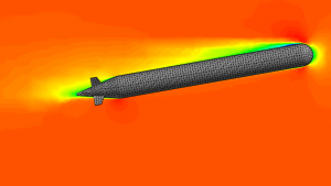 Image of an AUV/ UUV CFD analysis