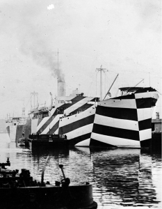 USS West Mahomet in dazzle camouflage 1918