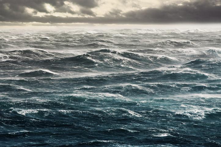 Irregular ocean waves